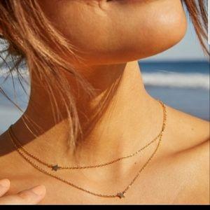 Jennifer Zeuner Dainty Necklace with Stars